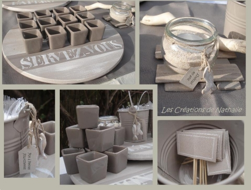 Kit d co ap ro am lior les cr ations de nathalie for Decoration pot de yaourt en verre